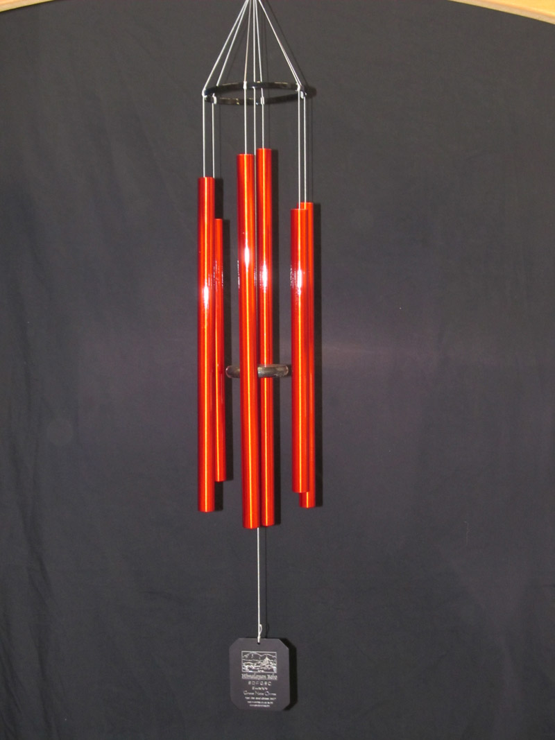 3SR :: Small Himalayan Echo Red Wind Chimes